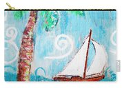 Palm Tree And Sailboat By Jan Marvin Carry-all Pouch