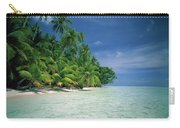 Palm Tree Lined Beach Papua New Guinea Carry-all Pouch