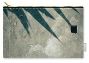 Palm Tree Shadow On Wall With Holes Carry-all Pouch