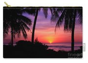 Palm Tree Sunset In Paradise Carry-all Pouch