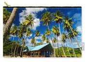 Palm Trees And Colorful Building Carry-all Pouch