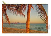 Palm Trees By A Restaurant On The Beach In Bahia Kino-sonora-mexico Carry-all Pouch