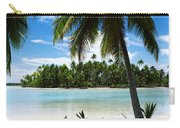 Palm Trees On The Beach, Rangiroa Carry-all Pouch