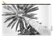 Palm Tree White Carry-all Pouch