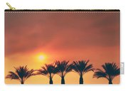 Palms On Fire Carry-all Pouch by Laurie Search
