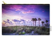Palms On The Beach Carry-all Pouch by Marvin Spates