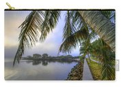 Palms Over The Waterway Carry-all Pouch