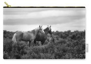 Palomino - Buttes - Wild Horses - Bw Carry-all Pouch