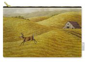 Palouse Farm Whitetail Deer Carry-all Pouch by Crista Forest