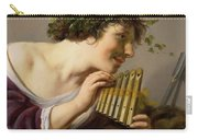 Pan Playing His Pipes Carry-all Pouch by Paulus Moreelse