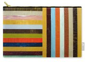 Panel Abstract L Carry-all Pouch by Michelle Calkins