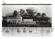 Panorama Alcatraz Infamous Inmates Black And White Carry-all Pouch