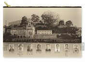 Panorama Alcatraz Infamous Inmates Sepia Carry-all Pouch