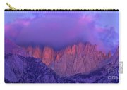 Panorama Alpenglow On Mount Whitney Eastern Sierras California Carry-all Pouch