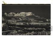 Panorama Bryce Canyon Storm In Black And White Carry-all Pouch