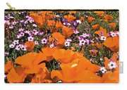Panorama Califonria Poppies And Hollyleaf Gilia Wildflowers Carry-all Pouch
