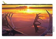 Panorama Caribou Antlers Whitefish Lake Nwt Canada Carry-all Pouch