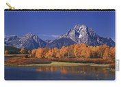 Panorama Fall Morning Oxbow Bend Grand Tetons National Park Wyoming Carry-all Pouch