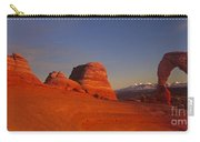 Panorama Moonrise Over Delicate Arch Arches National Park Utah Carry-all Pouch