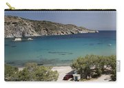 Panorama Of Mandrakia Fishing Village Milos Greece Carry-all Pouch
