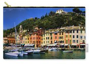 Panorama Of Portofino Harbour Italian Riviera Carry-all Pouch