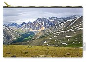 Panorama Of Rocky Mountains In Jasper National Park Carry-all Pouch by Elena Elisseeva