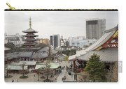 Panorama Of The Senso Ji Temple In Tokyo Carry-all Pouch