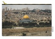 Panorama Of The Temple Mount Including Al-aqsa Mosque And Dome Carry-all Pouch
