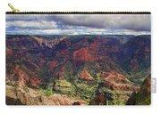Panorama Of Waimea Canyon Hawaii Carry-all Pouch by David Smith