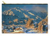 Panorama Snow Covers The Alabama Hills Carry-all Pouch