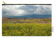 Panorama Striaght Cliffs And Rabbitbrush Escalante Grand Staircase  Carry-all Pouch
