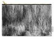 Panorama Winter Trees B And W Carry-all Pouch