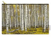 Panoramic Birch Tree Forest Carry-all Pouch