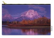 Panoramic Fall Morning Oxbow Bend Grand Tetons National Park Wyoming Carry-all Pouch