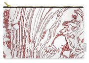 Panoramic Grunge Etching Burgundy Color Carry-all Pouch