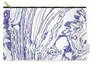 Panoramic Grunge Etching Royal Blue Color Carry-all Pouch