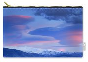 Panoramic Lenticular Clouds Over Sierra Nevada National Park Carry-all Pouch