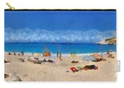 Panoramic Painting Of Porto Katsiki Beach Carry-all Pouch