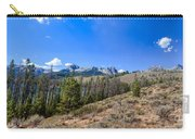 Panoramic Sawtooth Range And Little Redfish Lake Carry-all Pouch by Robert Bales
