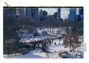 Panoramic View Of Ice Skating Wollman Carry-all Pouch