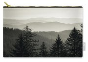 Panoramic View Of Trees With A Mountain Carry-all Pouch