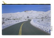 Panoramic View Of Winter Snow Carry-all Pouch