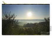 Panoramic View Over The Foggy Field Carry-all Pouch