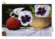 Pansies In Bowl Carry-all Pouch