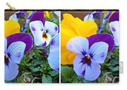 Pansies In Stereo Carry-all Pouch