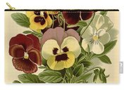 Pansies Carry-all Pouch by Philip Ralley