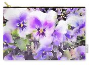 Pansies Watercolor Carry-all Pouch