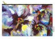 Pansies Carry-all Pouch by Zaira Dzhaubaeva