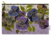 Pansy Border Carry-all Pouch