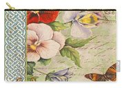 Pansy Garden-a Carry-all Pouch